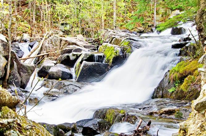 Waterfall beside the Thomas Carbide Willson Mill