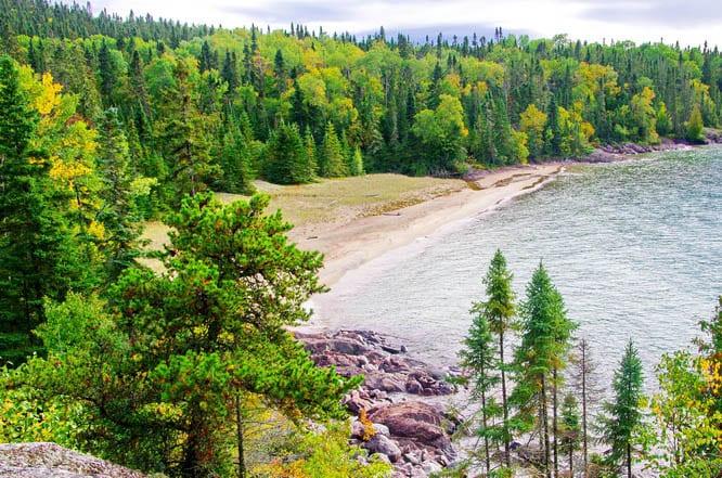 Lots of white sand beaches along the Coastal Trail, Pukaskwa National Park