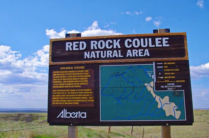 Red Rock Coulee, Alberta