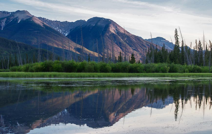You'll easily be able to get pictures of the vermilion Lakes from Buffalo Mountain Lodge