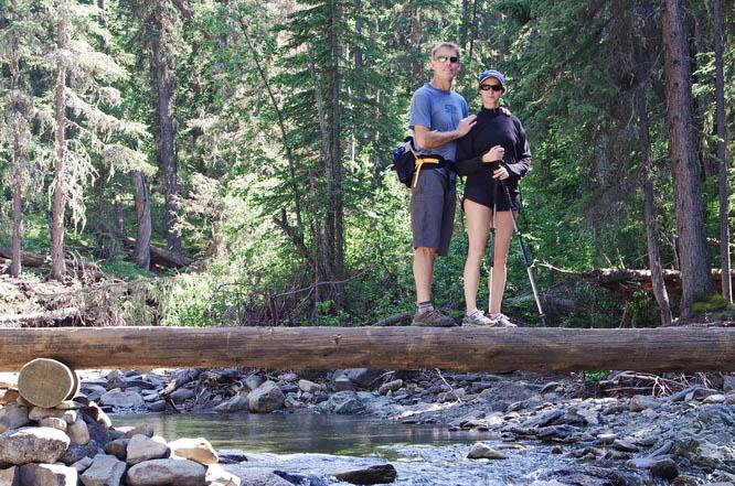 Crossing Jumpingpound Creek - Kananaskis Country