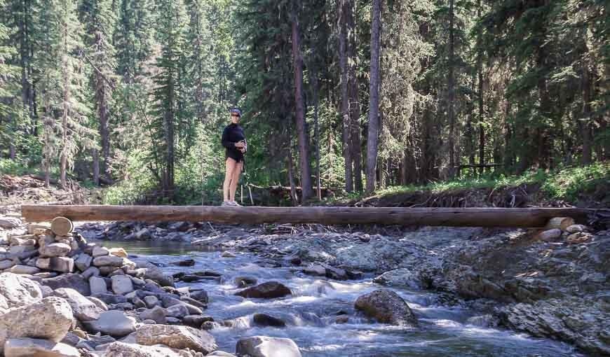 Crossing Jumpingpound Creek