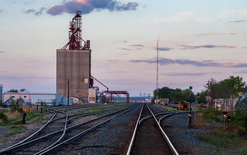 Looking towards the town of Maple Creek Saskatchewan