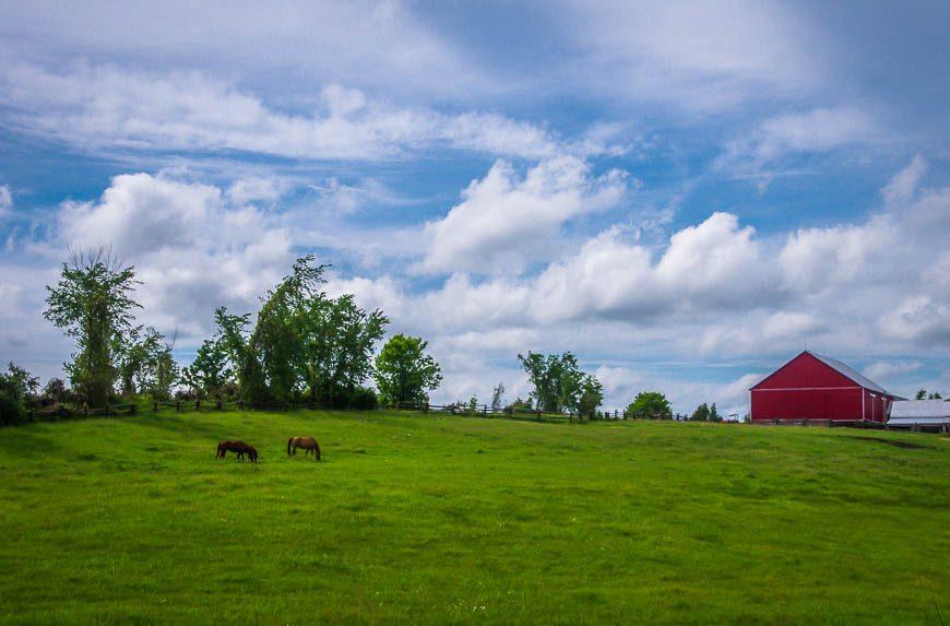 Classic farm scene