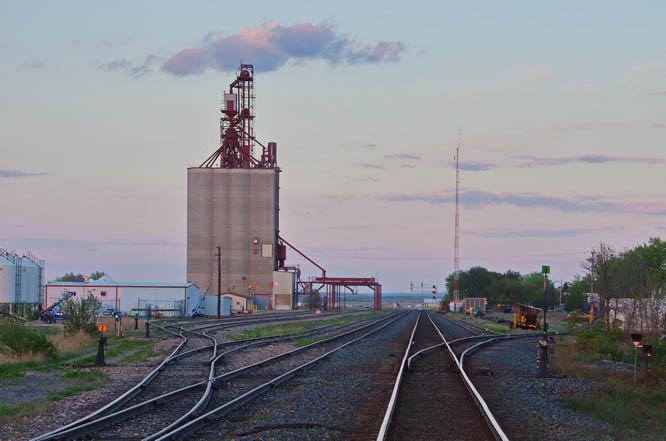 Looking towards the town of Maple Creek, Saskatchewan