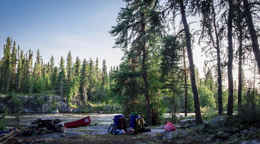 Campsite On The Churchill River