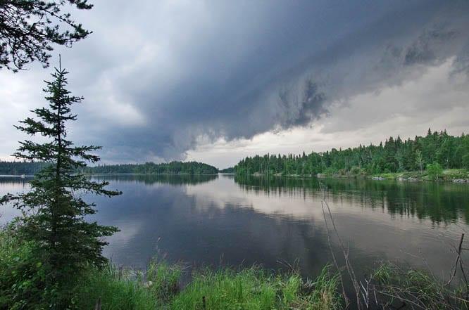 Beautiful skies on the Churchill River, Saskatchewan after a rainstorm