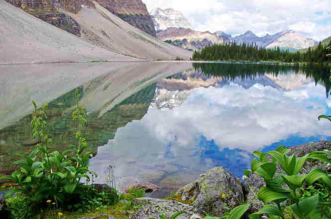 Reflection in Haiduk Lake, Banff National Park