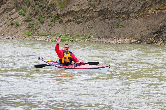 The TRAK kayak handled beautifully in Class I-II rapids