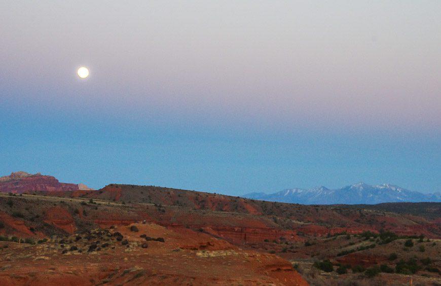 Our Utah road trip ends with a beautiful moon in Torrey, Utah