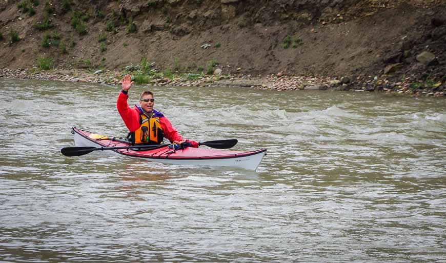 The TRAK kayak handled beautifully in Class I-II rapids
