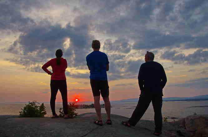 Enjoying a sunset over the Georgian Bay
