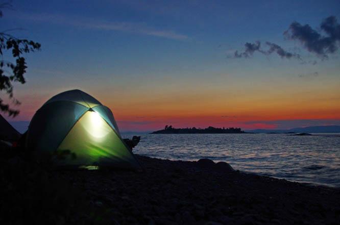 Camping on the Georgian Bay