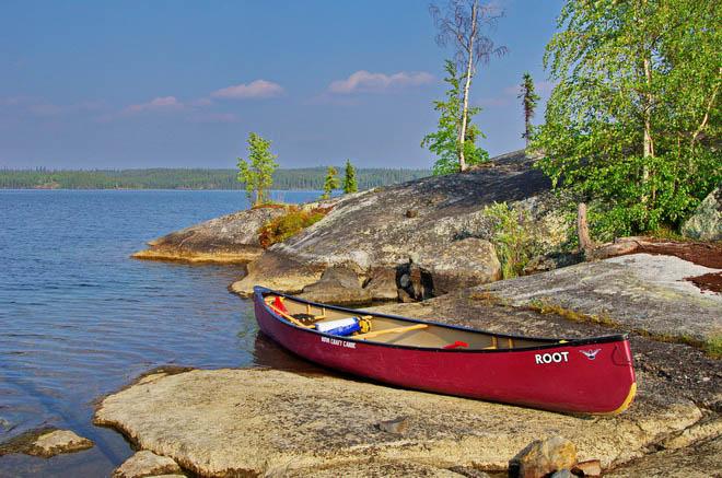 Canoeing in Hidden Lake Territorial Park