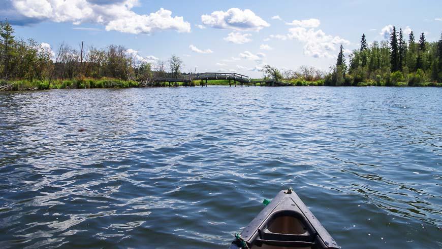 Heading for the Isthmus Bridge that takes you into Kinnaird Lake