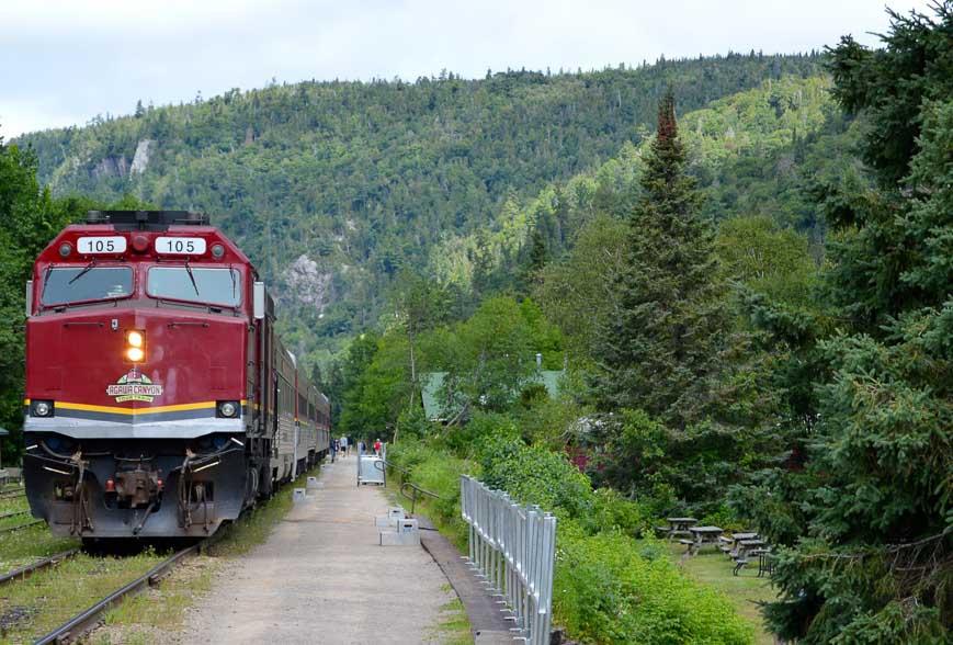 The Agawa Canyon train