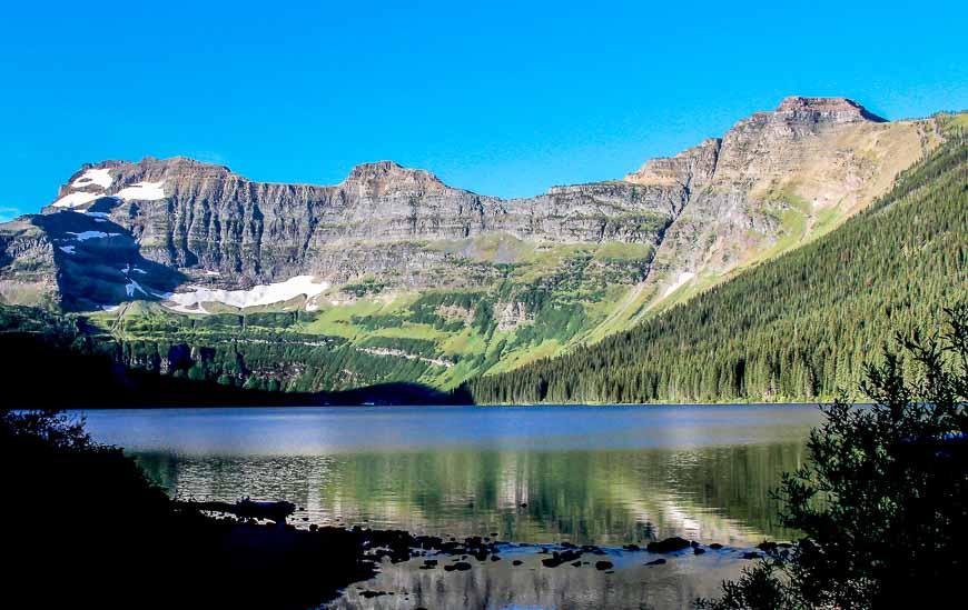 Beautiful Cameron Lake in Waterton Lakes National Park
