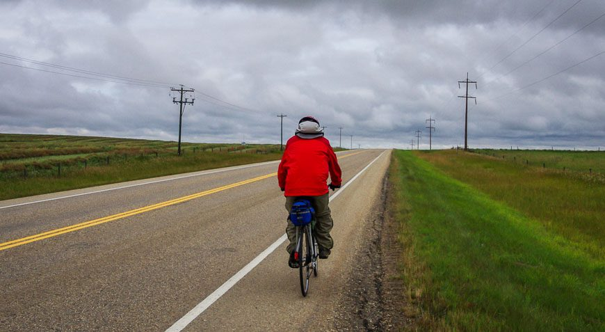 Things to so in Red Deer - cycle quiet backroads on the way to Ellis Farm