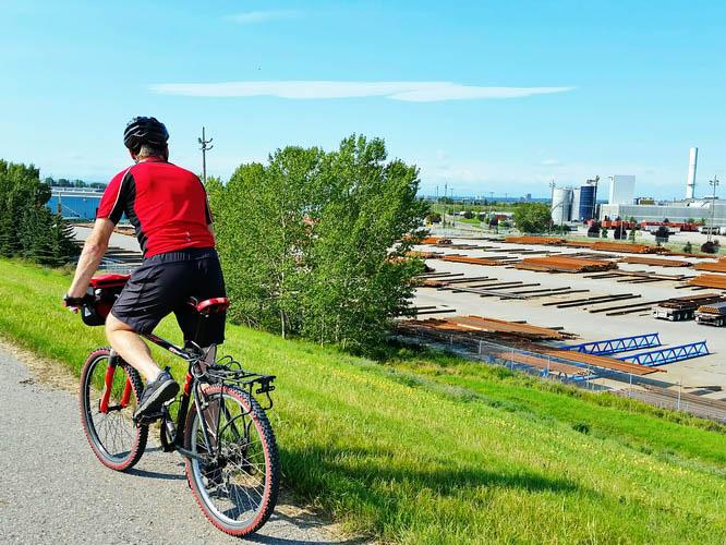 Riding through Calgary's industrial heart