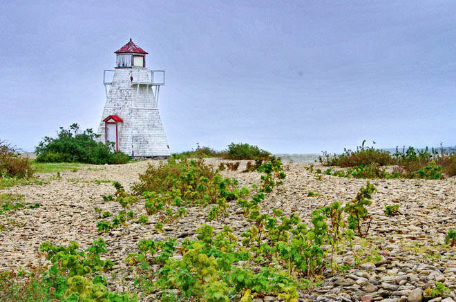 Hecla Lighthouse overlooking Gull Harbour