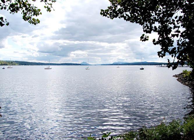 On the shores of lac Memphremagog in Magog, Quebec