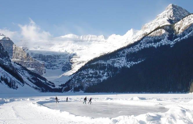 Skating on Lake Louise, Banff National Park