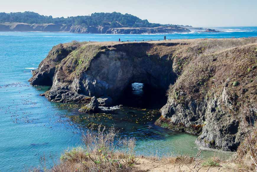 The coastline in Mendocino Headlands State Park - within walking distance of the downtown