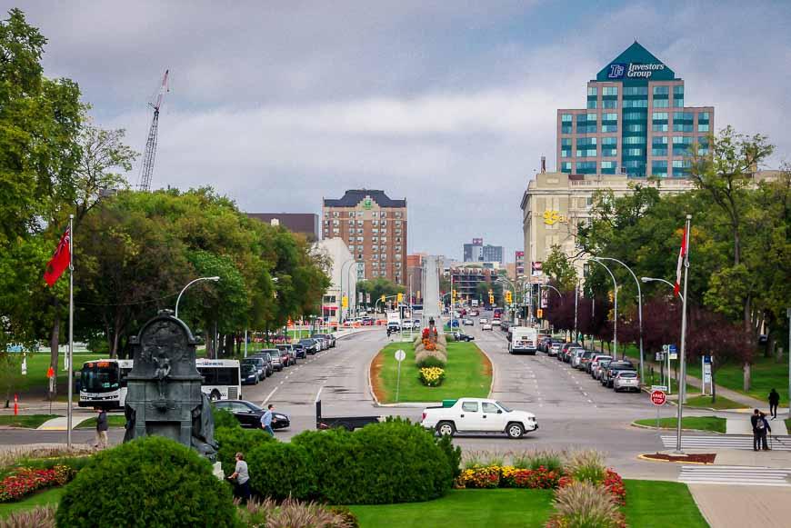 View of Winnipeg from the Legislature