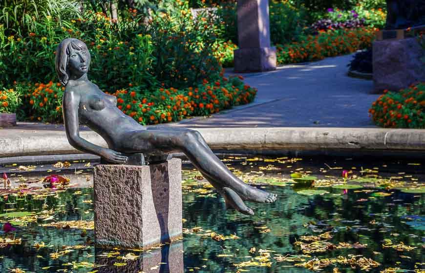 A bronze in the Leo Mol Sculpture Garden