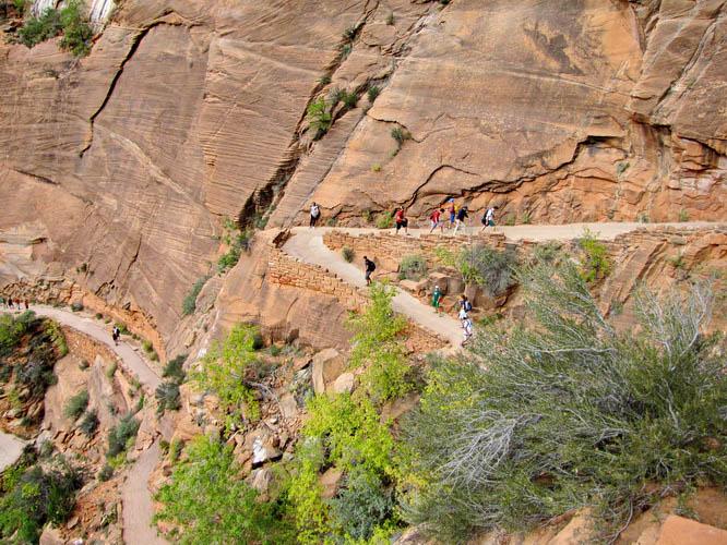 Switchbacks make hiking a whole lot easier - Zion National Park