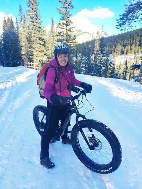 First time fat biking in Banff