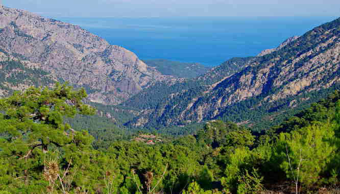 The view of the Mediterranean by Gul Mountain Hotel - where we started hiking the Lycian Way