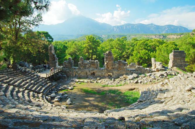 The ruins of Phaesalis on the Turkish coast