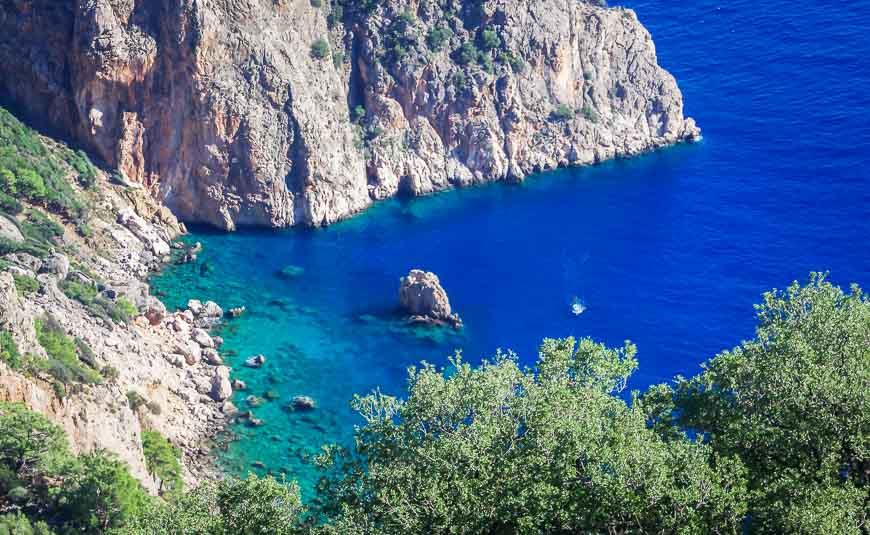 The stunning Turkish coast near Adrasan