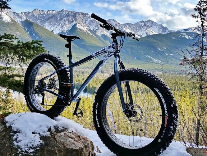 Stunning backdrops for fat tire biking - Kananaskis Country