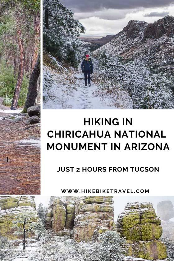 Chiricahua National Monument hiking - Arizona
