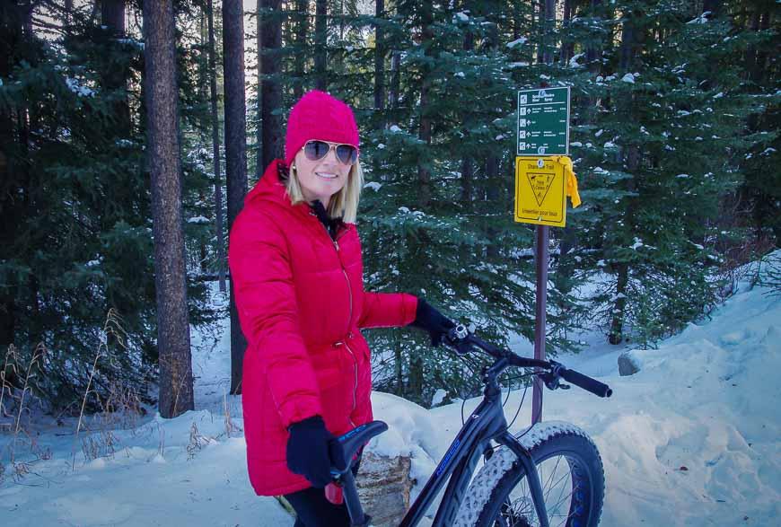 Fat biking in Banff
