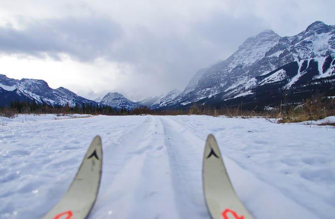 Cross-country skiing in Kananaskis, Alberta