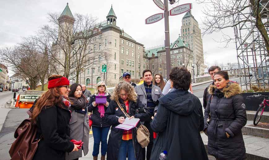 The Quebec City food tour is part history tour