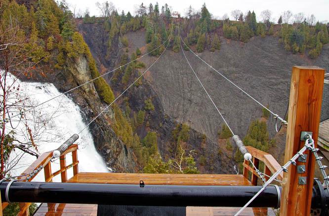 You can zipline across Montmorency Falls