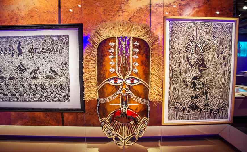 Fantastic displays in the Musee de la civilisation in Quebec City
