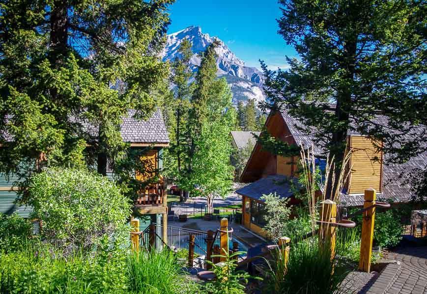 Beautiful backdrop of Cascade Mountain