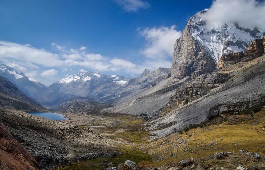 Mountain scenery in the Sierra del Cocuy range