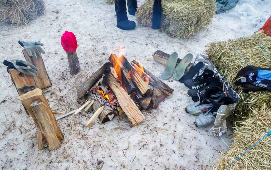 Don't forget the tinfoil - it helps reflect heat and dry boots