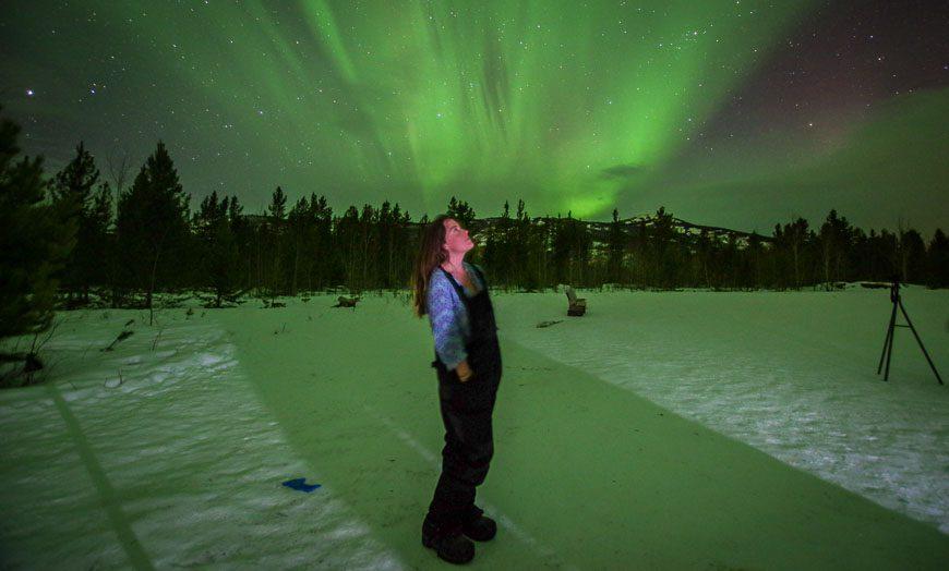 In awe of the Yukon Northern Lights display