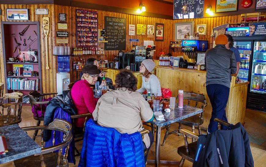 Breakfast at the Big Bend Café in Golden