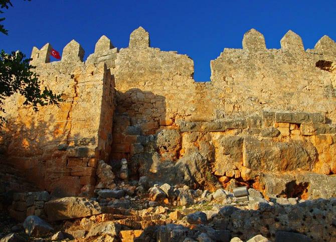 The golden ruins of Simena Castle