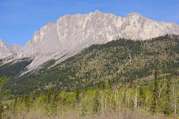 Mount Yamnuska from afar