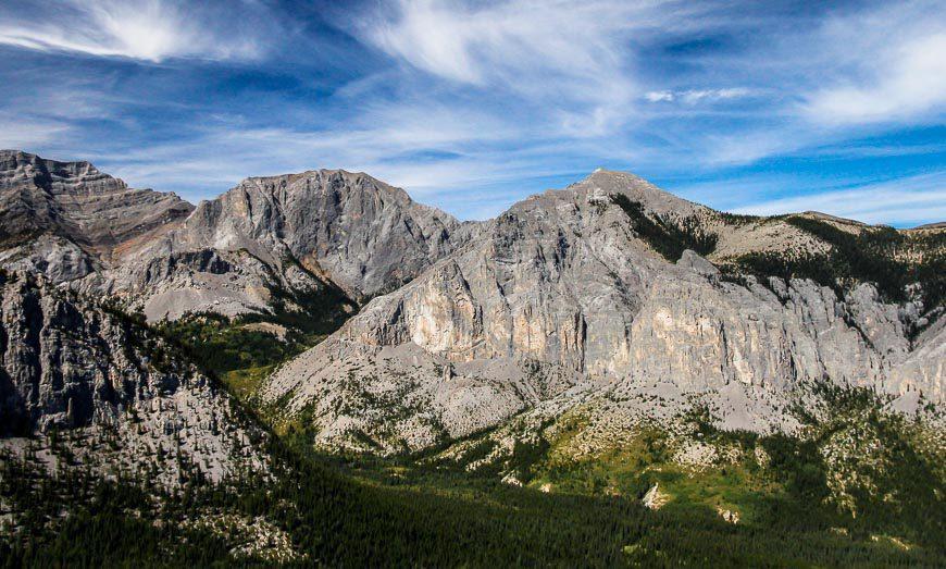 The beautiful backside of Mt Yamnuska