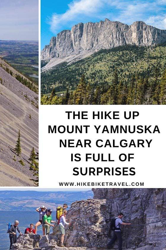 The hike up Mt Yamnuska near Calgary is full of surprises